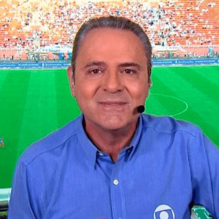 O narrador esportivo Luís Roberto: estará na estreia do Brasil nas Eliminatórias - Reprodução/Globo
