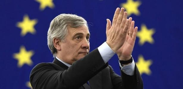 O presidente do Parlamento Europeu, Antonio Tajani