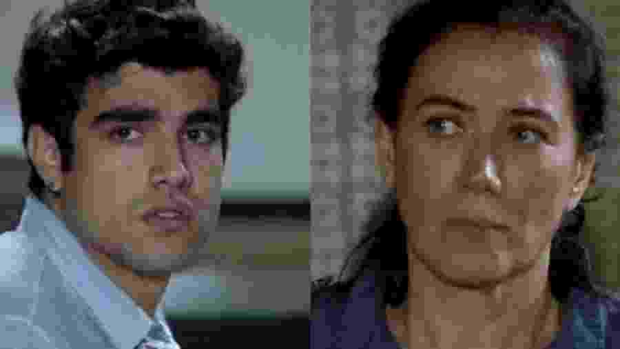 Antenor (Caio Castro) e Griselda (Lilia Cabral) de Fina Estampa (Reprodução - TV Globo) - Reprodução / Internet
