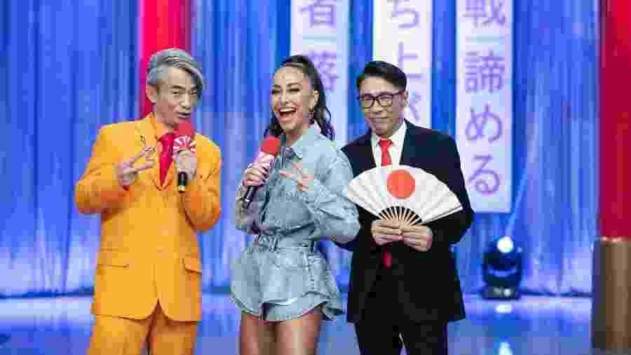 """Sabrina Sato com Yoshi e Mr. Fu, no """"Made In Japão"""" - Reprodução / Internet"""