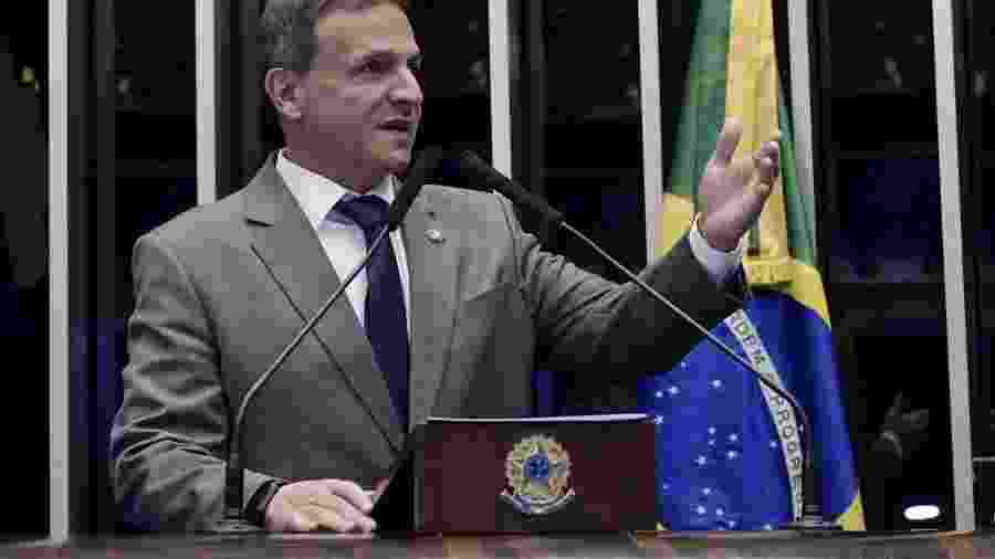 O senador Marcio Bittar (MDB-AC), relator do orçamento. Votação ocorre em meio à acirrada disputa pela eleição dos presidentes da Câmara e do Senado - WALDEMIR BARRETO/AGêNCIA SENADO