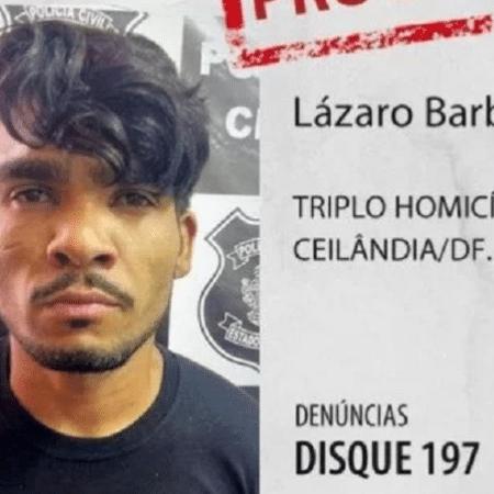 Lázaro Barbosa de Sousa, procurado há 15 dias em Goiás - Reprodução