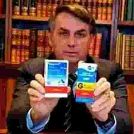 Presidente Jair Bolsonaro defende a utilização da cloroquina  -  Reprodução