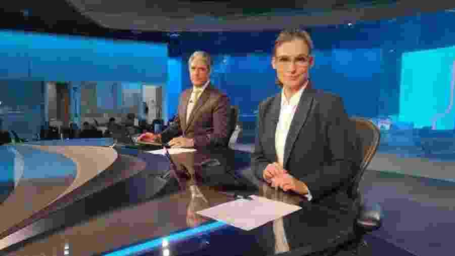 """William Bonner e Renata Vasconcellos, apresentadores do """"Jornal Nacional"""" - Reprodução/Internet"""