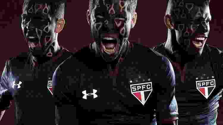 Nova terceira camisa do São Paulo foi lançada nesta semana - Divulgação - Divulgação