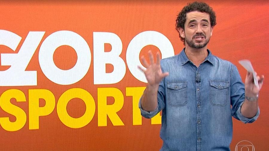 Felipe Andreoli no Globo Esporte (Reprodução - TV Globo) - Reprodução / Internet
