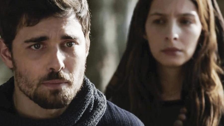 Jacó (Miguel Coelho) e Lia (Michelle Batista) em Gênesis (Divulgação/Record TV) - Reprodução / Internet