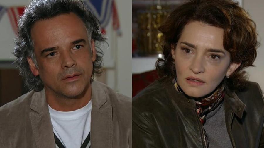 Ângelo Antônio e Gisele Fróes como Marcos e Vitória em A Vida da Gente (Reprodução / Globo) - Reprodução / Internet