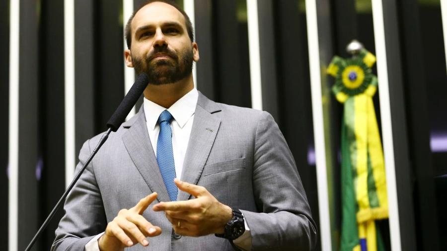 O deputado Eduardo Bolsonaro (PSL-SP).  - Marcelo Camargo/Agência Brasil