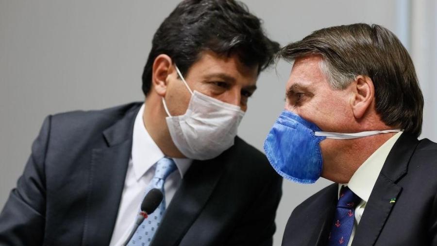 O ministro da Saúde, Luiz Henrique Mandetta, e o presidente Jair Bolsonaro - Agência Brasil