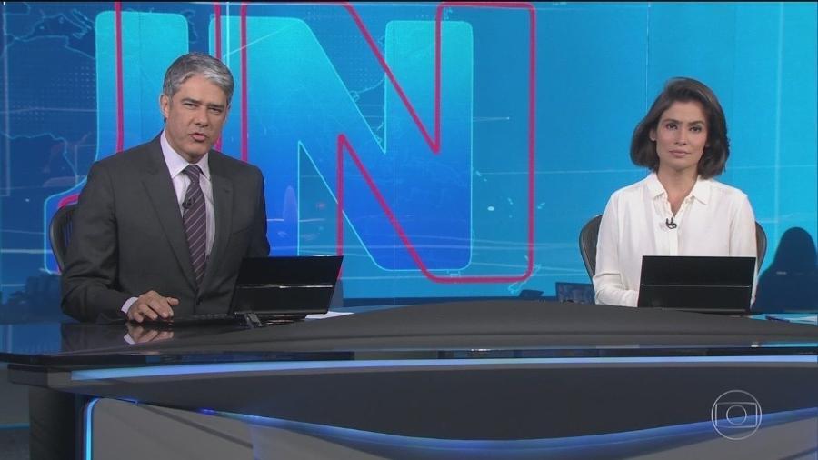 William Bonner e Renata Vasconcellos, os apresentadores do Jornal Nacional - Reprodução