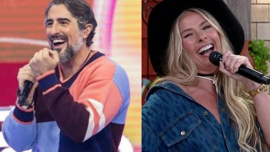 Marcos Mion e Adriane Galisteu (Reprodução/Globo/Record TV) - Reprodução / Internet