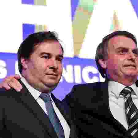 Presidente da Cãmara, Rodrigo Maia e presidente da República, Jair Bolsonaro  -  Marcos Corrêa/PR