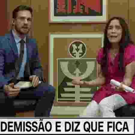 Daniel Adjuto, em Brasília, com Regina Duarte - Reprodução / Internet
