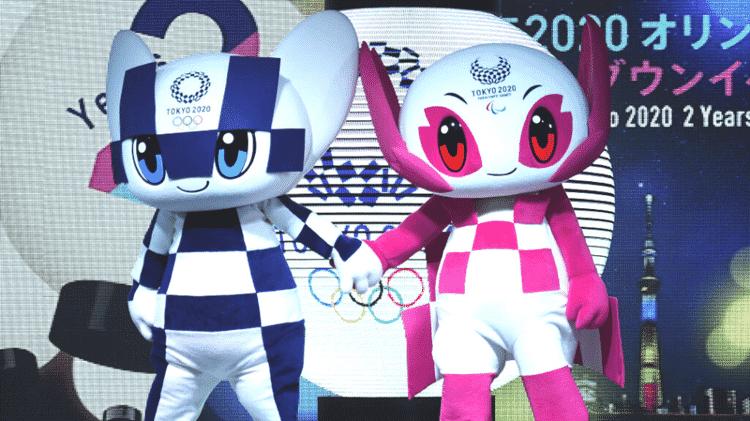 Mascotes dos Jogos Olímpicos sendo apresentados para a disputa das Olimpíadas Tóquio 2020 - GettyImages - GettyImages