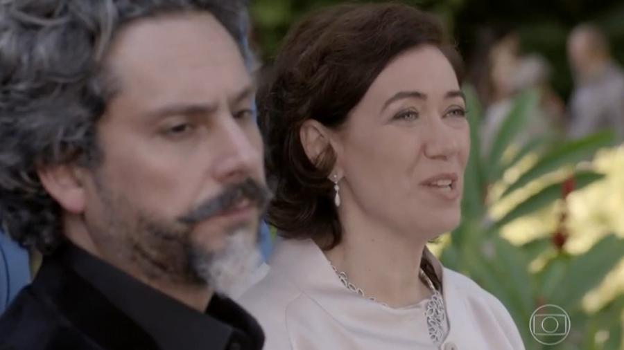 José Alfredo (Alexandre Nero) e Maria Marta (Lilia Cabral) em Império (Reprodução/Globo) - Reprodução / Internet