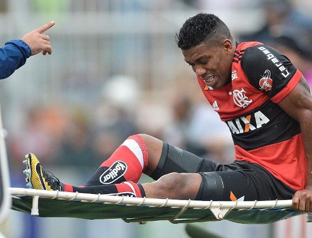 Berrío sofreu grave lesão em 22 de outubro de 2017, quando Fla perdeu para São Paulo - Mauro Horita/Estadão Conteúdo