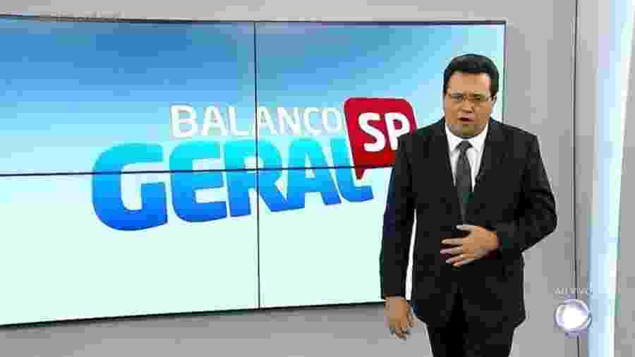 """Geraldo Luis estreia no comando do """"Balanço Geral SP"""" - Reprodução/Record TV"""
