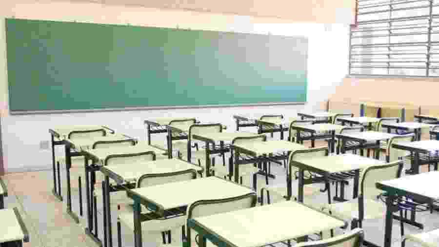 Sala de aula vazia; retorno das aulas em São Paulo é previsto para setembro - SEE SP