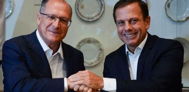 Alckmin (à esq.) e Doria disputam a indicação do PSDB para as eleições de 2018