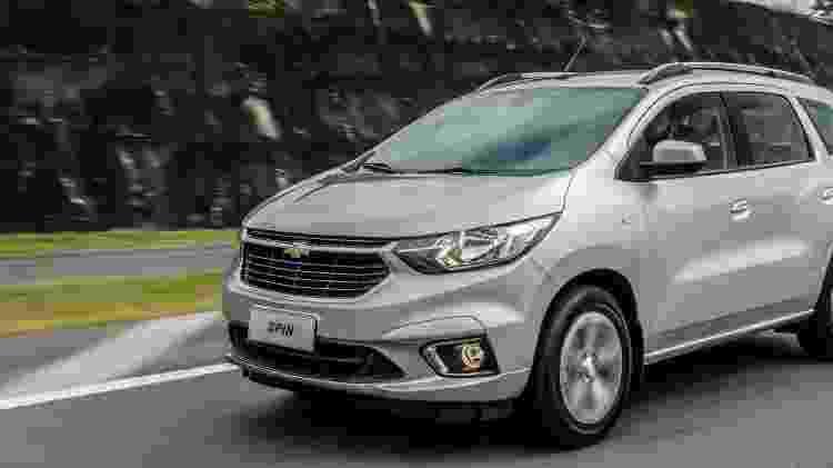 Spin é a opção mais barata da lista - Foto: Chevrolet | Divulgação - Foto: Chevrolet | Divulgação