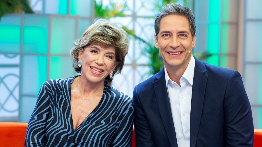 "Silvia Poppovic e Luís Ernesto Lacombe, apresentadores do ""Aqui na Band""  - Kelly Fuzaro/Band"