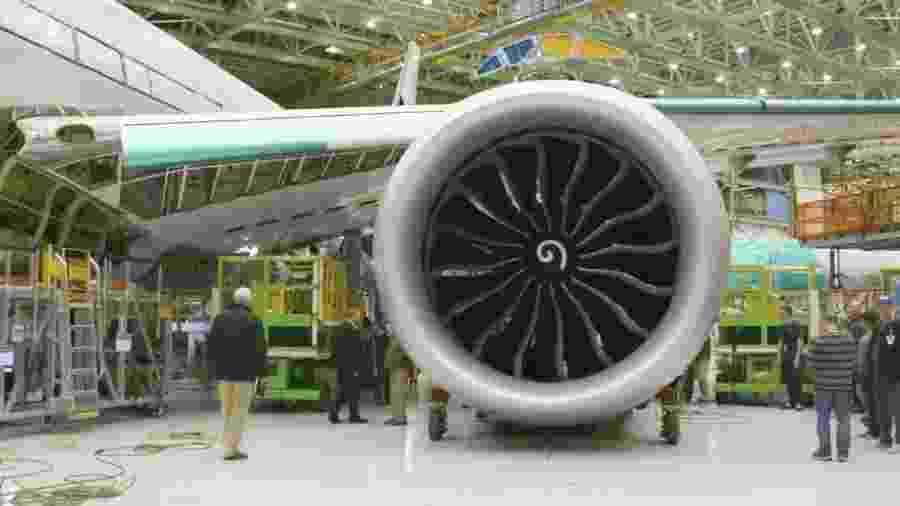 Motor GE9X do novo Boeing 777X - false