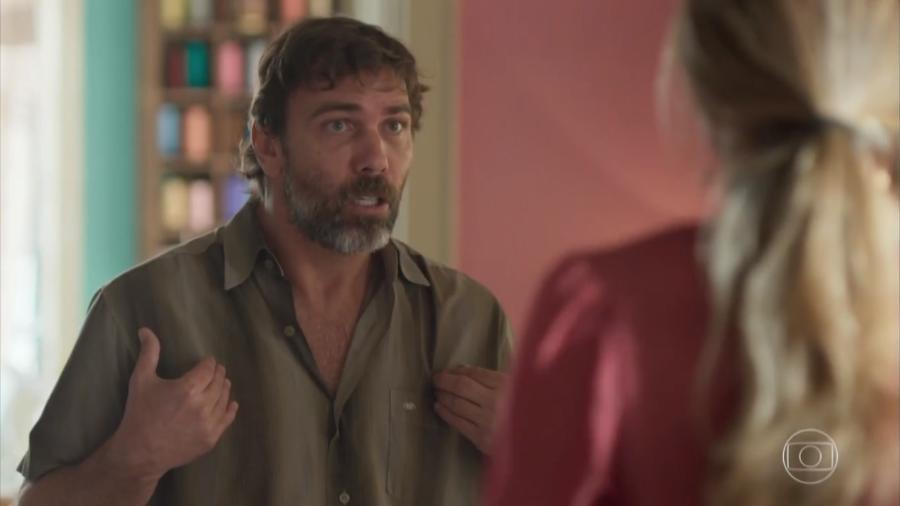 Elias (Marcelo Faria) e Paloma (Grazi Massafera) em cena de Bom Sucesso - Reprodução/TV Globo