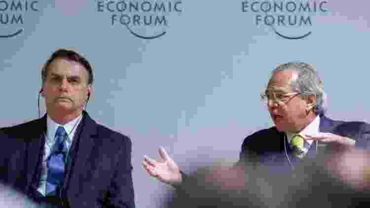 Imagem de arquivo de Guedes com Bolsonaro em Davos, em 2019 - Alan Santos / PR - Alan Santos / PR