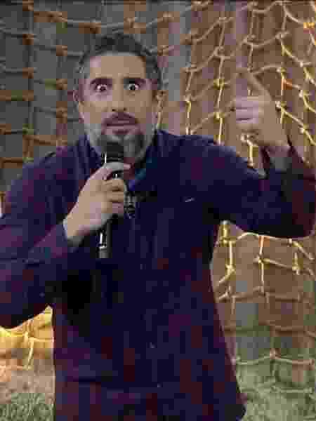 """Marcos Mion em """"A Fazenda""""  - Reprodução / Internet"""