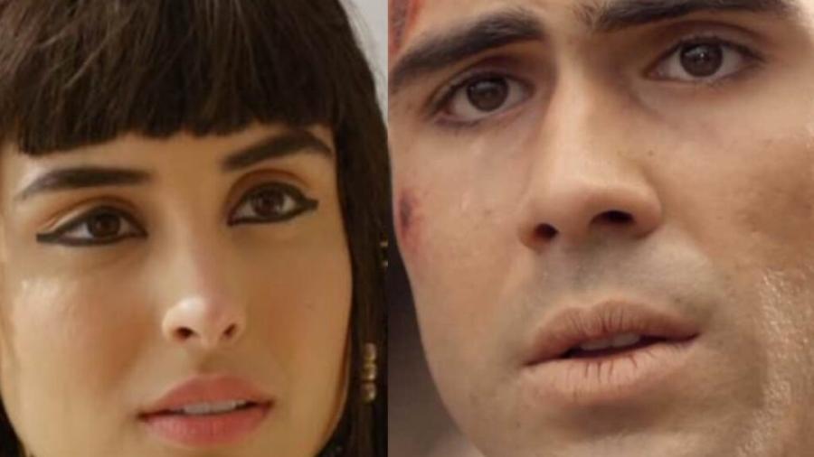 Asenate (Letícia Almeida) e José (Juliano Laham) em Gênesis (Reprodução Record TV) - Reprodução / Internet