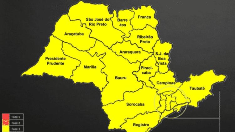 Atualmente, todo o estado está na fase amarela do Plano São Paulo - Divulgação/ Governo do Estado de São Paulo - Divulgação/ Governo do Estado de São Paulo