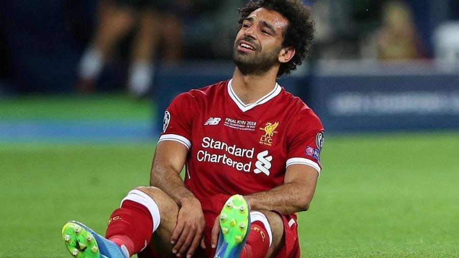 Salah lesionou o ombro na final da Liga dos Campeões - Hannah McKay/Reuters