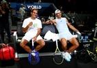 """Federer, sobre Nadal: """"É bom ter um amigo como ele"""" - (Sem crédito)"""