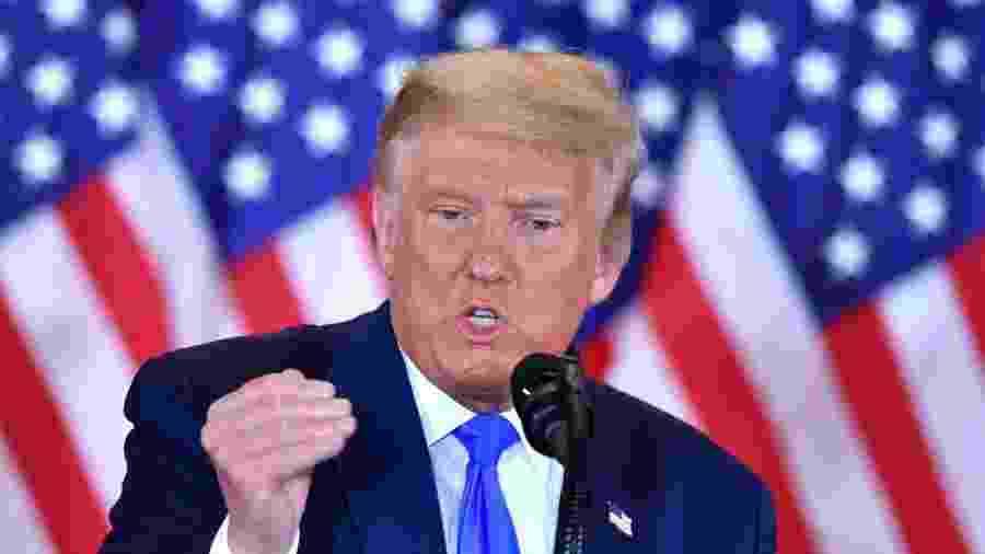 O presidente dos Estados Unidos, Donald Trump                              -                                 MANDEL NGAN/AFP