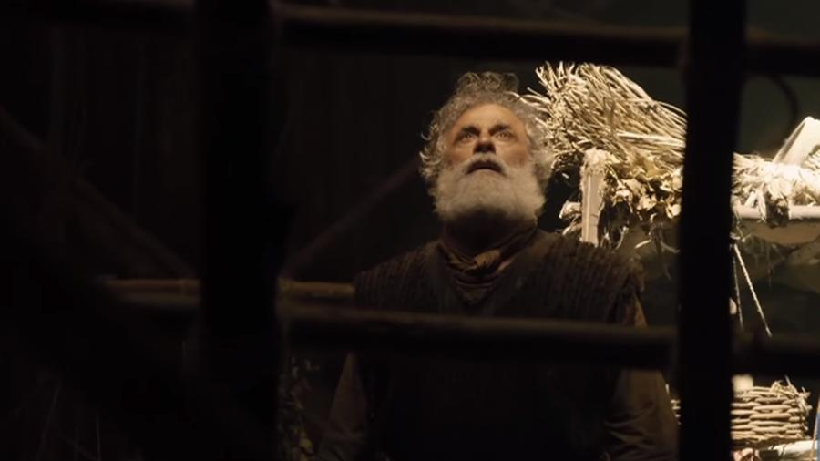 Oscar Magrini interpreta Noé, em Gênesis (Reprodução: Record TV) - Reprodução / Internet