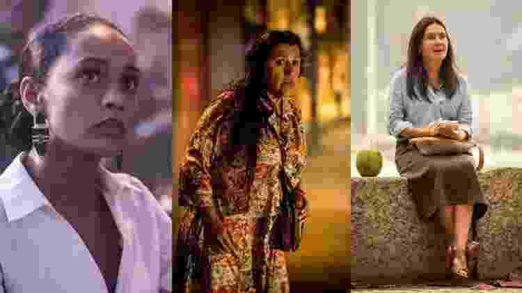 As três protagonistas da trama: Vitória (Taís Araújo), Lurdes (Regina Casé) e Thelma (Adriana Esteves)  - Globo/João Cotta