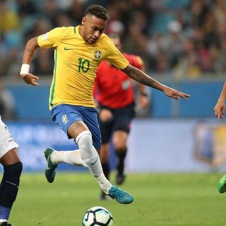 Neymar em jogo pela seleção Brasileira - (Foto: Arquivo / Lucas Figueiredo / CBF)