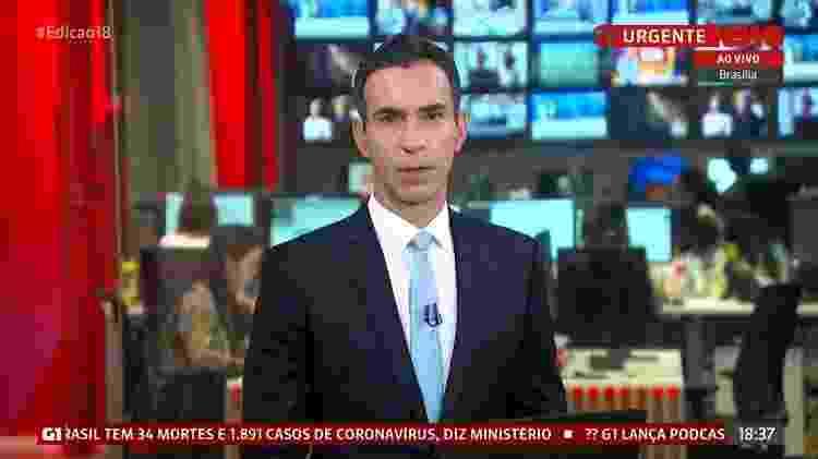 Tralli na Globo News - Reprodução / Internet - Reprodução / Internet