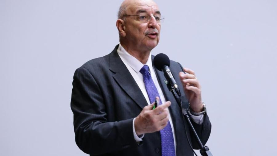 Osmar Terra em seminário na Câmara dos Deputados.  -  Michel Jesus/ Câmara dos Deputados