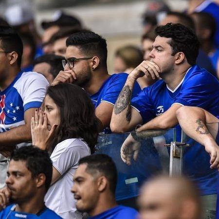 Torcedores do Cruzeiro, de campeão à Série B - Getty Images