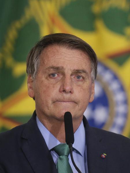 O presidente da República, Jair Bolsonaro (sem partido), discursa durante a cerimônia de  entrega de medalhas da Ordem do Mérito Médico e Mérito Oswaldo Cruz, no Salão Nobre do   Palácio do Planalto, em Brasília (DF), nesta quinta-feira, 05 de agosto de 2021.    05/08/2021 - Foto: DIDA SAMPAIO/ESTADÃO CONTEÚDO - Dida Sampaio/Estadão Conteúdo