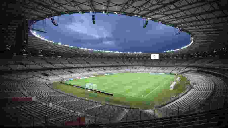 Mineirão vazio, estádio onde joga o Atlético-MG, líder do Brasileiro. Clubes trabalham novamente por volta do público em novembro - Reprodução / Internet