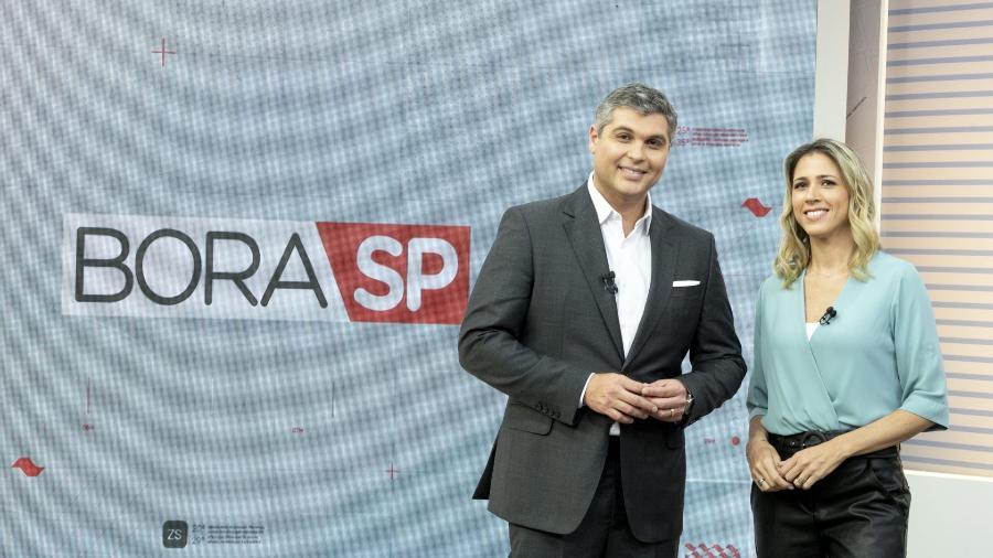 """Joel Datena e Laura Ferreira são apresentadores do """"Bora SP""""  - Joel Datena e Laura Ferreira, apresentadores do Bora SP (Divulgação/Band)"""