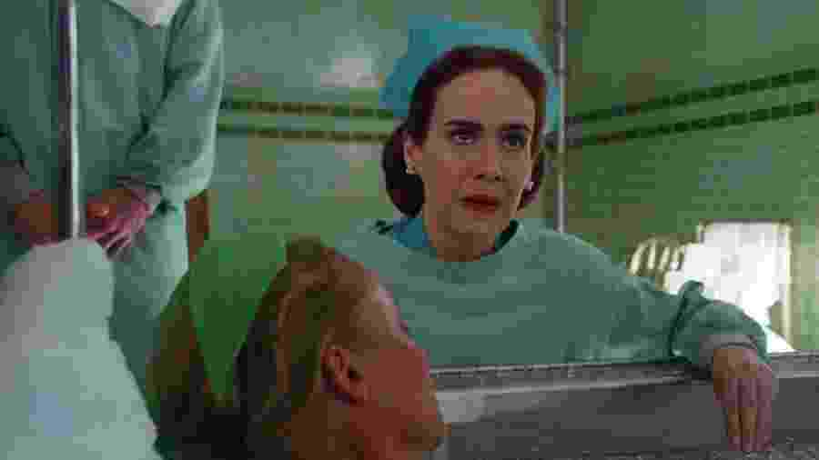 """Sarah Paulson, a protagonista de """"Ratched"""" - Reprodução / Internet"""