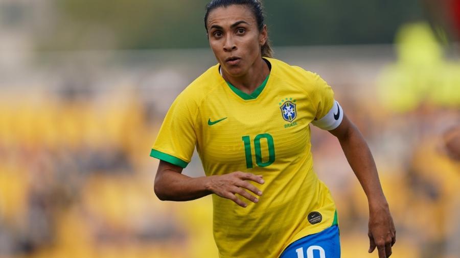 Marta, eleita seis vezes a melhor jogadora do mundo e camisa 10 da seleção brasileira - DANIELA PORCELLI/CBF