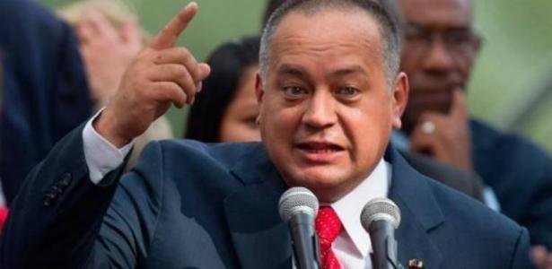 O dirigente chavista Diosdado Cabello, primeiro a divulgar a prisão de Jonatan Diniz