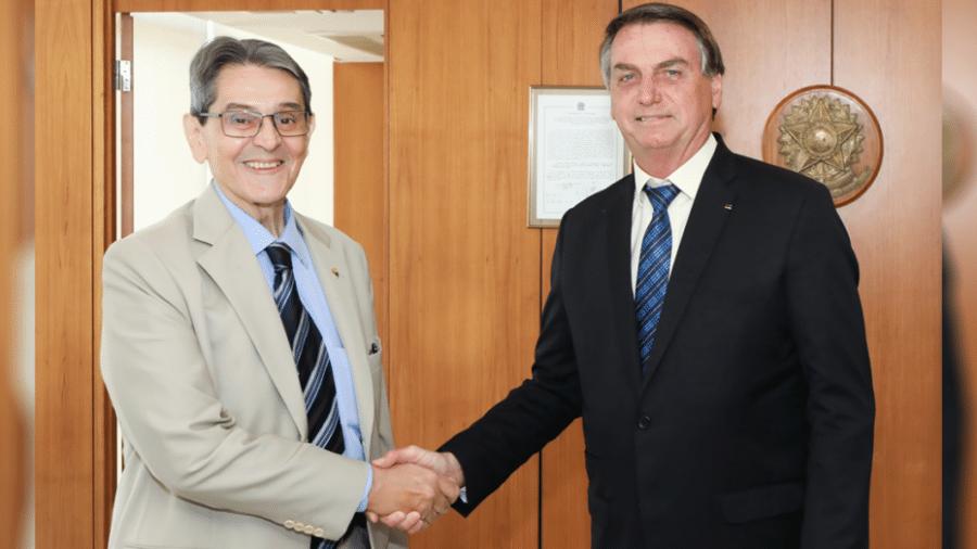 Roberto Jefferson ao lado do presidente Jair Bolsonaro (sem partido) - Divulgação / PTB / Imagem de Arquivo