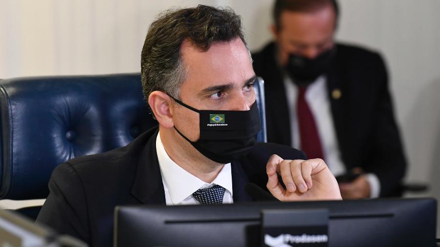 O presidente do Senado, Rodrigo Pacheco (DEM-MG), durante a sessão de abertura da CPI da Covid  - Jefferson Rudy/Agência Senado