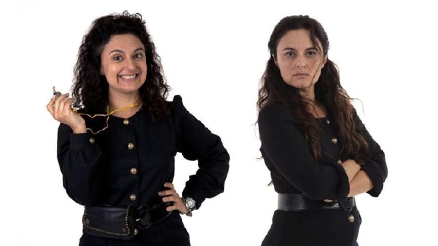 Carla Fioroni como Ernestina (à esquerda) e Matilde (à direita) em Chiquititas (Divulgação / SBT) - Reprodução / Internet